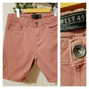 WEST 49   SLIM CUT RELAXED FIT SHORTS